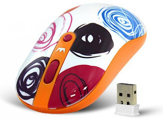 все цены на  Мышь беспроводная Crown CMM-926W Circles рисунок USB  онлайн