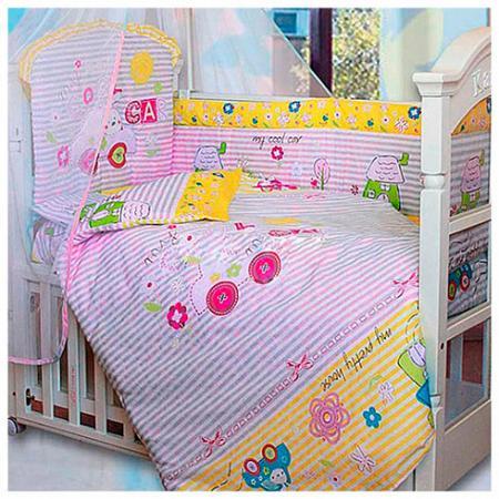 Бампер в кроватку Золотой Гусь Cool Car (розовый) комплект в кроватку золотой гусь 7 пр cool car розовый