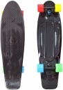 "Скейтборд Y-SCOO Big Fishskateboard Print 27"" RT винил 68,6х19 с сумкой BLACK/4-blue,yellow,green,red 402-B4"
