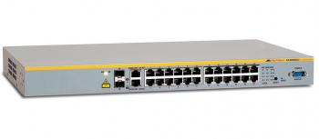 Allied Telesyn AT-8000S/24, 24-port Stackable Managed Fast Ethernet Switch with Two 10/100/1000T / SFP Combo uplinks
