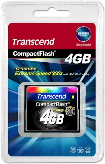 Карта памяти Compact Flash Card 4GB Transcend 300x TS4GCF300