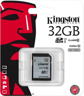 Карта памяти SDHC 32GB Class 10 Kingston SD10V/32GB/SD10VG2