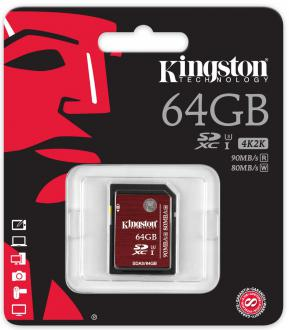 Карта памяти SDXC 64GB Class 10 Kingston SDA3/64GB