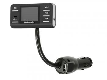 FM трансмиттер Defender RT-PRO MP3 USB SD MMC Пульт ДУ 83551