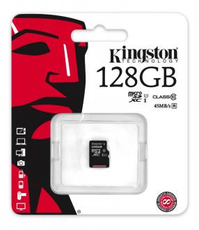 Карта памяти Micro SDXC 128GB Class 10 Kingston SDC10G2/128GBSP без адаптера