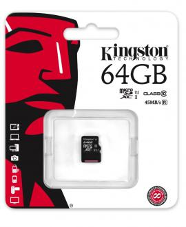Карта памяти Micro SDXC 64GB Class 10 Kingston SDC10G2/64GBSP