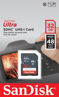 Карта памяти SDHC 32Gb Class 10 Sandisk SDSDUNB-032G-GN3IN
