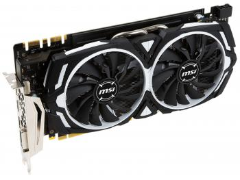 Видеокарта 8192Mb MSI GeForce GTX 1070 ARMOR 8G OC PCI-E 256bit GDDR5X DVI HDMI DP Retail