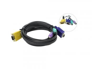ATEN 2L-5203P 3.0 m cable PS/2 to SPHD DB15