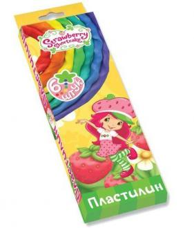 Набор пластилина Action! STRAWBERRY SHORTCAKE 6 цветов SW-MC6-60