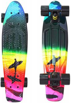 "Скейтборд Y-SCOO Fishskateboard Print 22"" RT винил 56,6х15 с сумкой Offshore 401G-O"