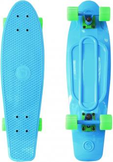 "Скейтборд Y-SCOO Big Fishskateboard Print 27"" RT винил 68,6х19 с сумкой BLUE/green 402-B"
