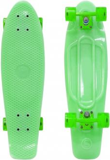 "Скейтборд Y-SCOO Big Fishskateboard GLOW 27"" RT винил 68,6х19 с сумкой GREEN/green 402E-G"