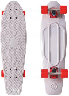 "Скейтборд Y-SCOO Big Fishskateboard 27"" RT винил 68,6х19 с сумкой GREY/red 402-Gr"