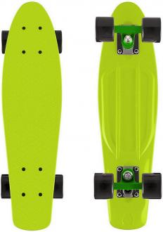 "Скейтборд Y-SCOO Fishskateboard 22"" винил 56,6х15 с сумкой LIME/black 401-L"