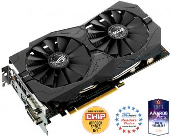 Видеокарта 2048Mb ASUS GeForce GTX1050 PCI-E 128bit GDDR5 DVI HDMI DP HDCP STRIX-GTX1050-O2G-GAMING Retail