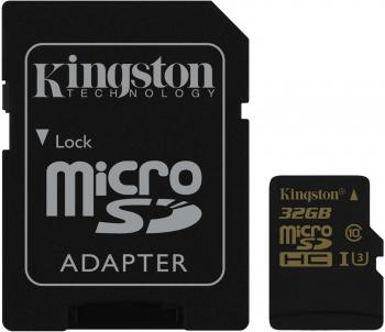 Карта памяти Micro SDHC 32GB Class 10 Kingston SDCG/32GB + адаптер SD