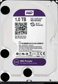 "Жесткий диск 3.5"" 1Tb 5400rpm 64Mb cache Western Digital Purple SATAIII WD10PURZ"