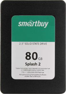 "Твердотельный накопитель SSD 2.5"" 80GB Smartbuy Splash 2 Read 470Mb/s Write 330Mb/s SATAIII SB080GB-SPLH2-25SAT3"