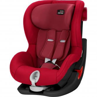 Автокресло Britax Romer King II Black Series (flame red trendline)