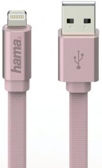 Кабель Hama H-178208 Lightning-USB 2.0 для Apple iPhone 5/5c/5S/6/6+/6s/6s+/SE для Apple iPad mini/Air розовый 1м