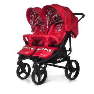 Прогулочная коляска для двойни Baby Care Cruze DUO (red 17)