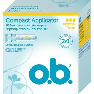 "Тампоны o.b. ""Compact Applicator Normal"" 16 шт 83568"