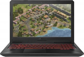 "ASUS TUF GAMING FX504GE-E4420T 15.6""(1920x1080 (матовый))/Intel Core i5 8300H(2.3Ghz)/12288Mb/1000+128SSDGb/noDVD/Ext:nVidia GeForce GTX1050Ti(4096Mb)/Cam/BT/WiFi/war 1y/2.3kg/black metal/W10"