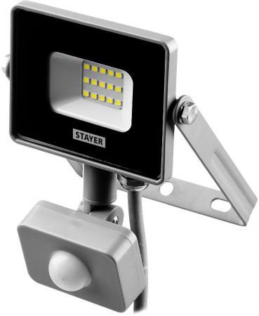 цена на Прожектор LEDPro STAYER Profi 57133-10 светодиодный, датчик движения, 10Вт