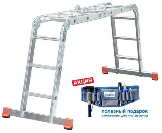 Шарнирная лестница KRAUSE Multimatic 120649 + сумка для инструментов цена