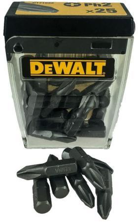 Фото - Набор бит DEWALT DT71522-QZ PH2, 25шт, длина 25 мм, 1/4 набор бит dewalt dt71522 qz ph2 25шт длина 25 мм 1 4
