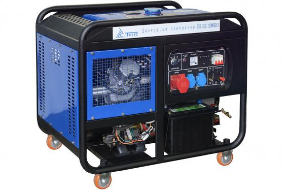 Дизель генератор ТСС SDG 12000EH3 КВТ 11.5/ КВА 12.5/ 25 л. НА 75% БЕЗ ДОЗАПРАВ (ч): 7.