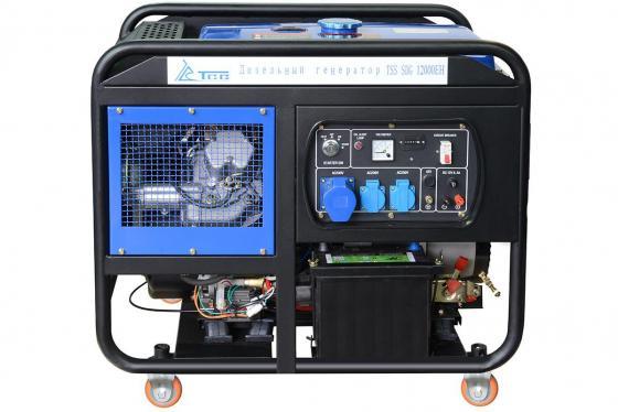 Дизель генератор ТСС SDG 12000EH КВТ 11.5/ КВА 11.5/ 25 л. НА 75% БЕЗ ДОЗАПРАВ (ч): 7.