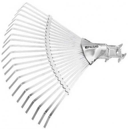 Грабли PALISAD 61767 веерные 22 зуба без черенка раздвижные 270-460мм грабли веерные проволочные без черенка росток