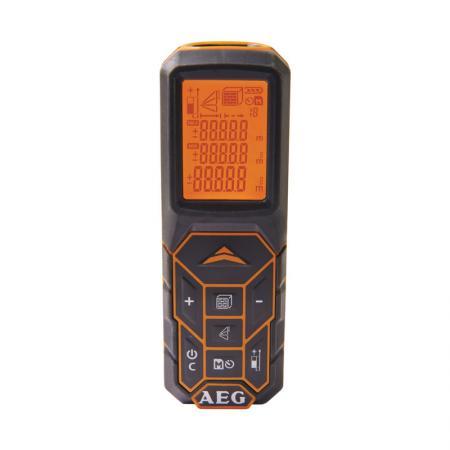 цена на Дальномер AEG LMG50 лазерный 2xLR03(AAA) 0.05-50м ±1.5мм 0.1кг ЖК-дисплей
