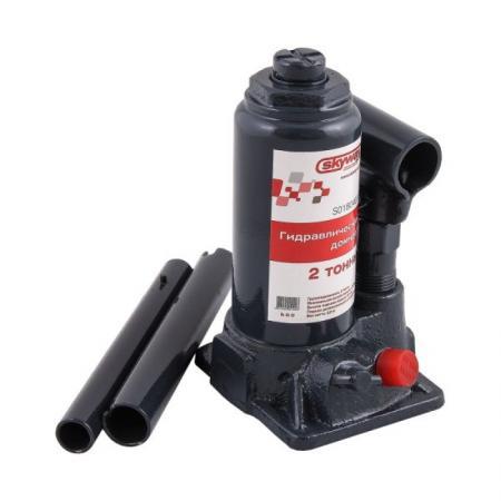 цена на Домкрат SKYWAY S01804006 гидравлический бутылочный 2т h 148-278мм с клапаном в кейсе