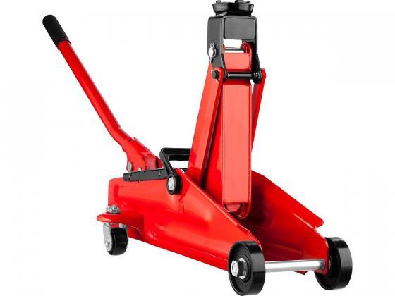 Домкрат STAYER 43153-2-K RED FORCE гидравлический подкатной, 2т, 130-350мм, в кейсе домкрат гидравлический подкатной big red t82000kit
