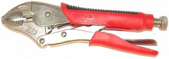 цена на Клещи YATO YT-2153 зажимные двухкомпонентная ручка 240мм