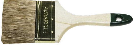 Кисть плоская STAYER LASUR-STANDARD 01031-100 смеш:натур+искус щетина, деревянная ручка, 100мм кисть плоская зубр лазурь мастер смешанная щетина деревянная ручка 100мм 4 01009 100