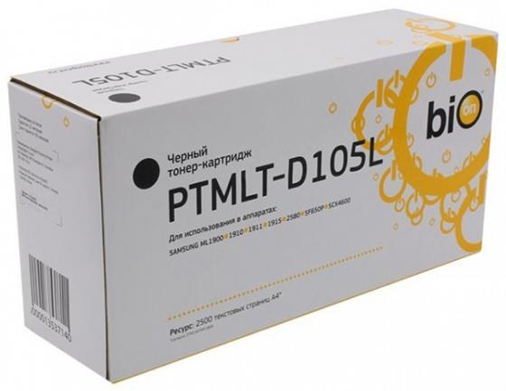 Фото - Bion MLT-D105L / PTMLT-D105L Картридж для Samsung ML-1910/1915/2525/2580;SCX-4600/4623/SF-650,2500 стр. [Бион] bion ptmlt d205e картридж для samsung ml 3710 scx 5637 10000стр [бион]