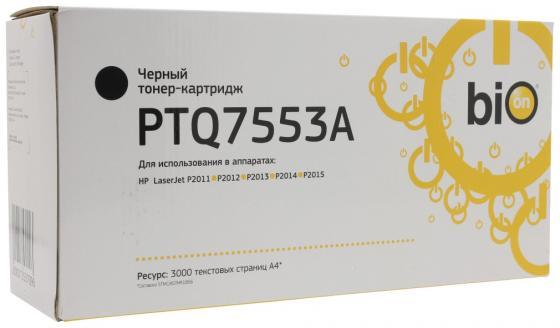 Фото - Bion Q7553A/PTQ7553A Картридж для HP LaserJet P2011/P2012/P2013/P2014/P2015/M2727nf MFP (3000 стр.) [Бион] картридж nv print q7553a для hp laserjet p2014 p2015 m2727mfp черный 3000стр
