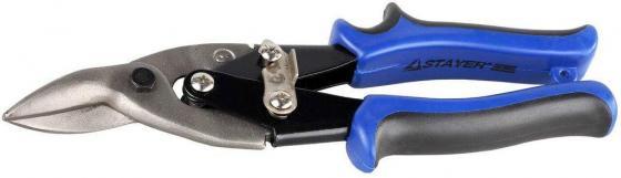 Ножницы по металлу STAYER 23055-R правые, Cr-V, 250 мм ножницы по металлу кобальт 647 482 250 мм правый рез cr v