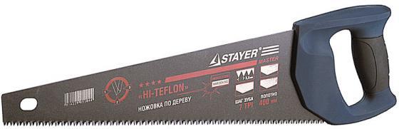 Ножовка универсальная STAYER 2-15081-45 BlackMAX 450 мм, 7TPI, для средних загот, фанеры, ДСП, МДФ