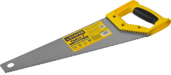 Ножовка универсальная STAYER 15050-40_z02 Тайга-7 400мм,7TPI, для средн заготовок, фанеры, ДСП,МДФ
