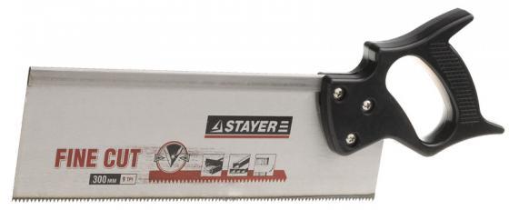 Ножовка для стусла c обушком STAYER 1536-30 300 мм, 8 TPI, прямой закаленный зуб, точный рез.