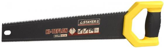 цены на Ножовка двусторонняя STAYER 2-15089 DUPLEX 400 мм, 12 TPI прямой зуб + 7 TPI 3D универсальный зуб  в интернет-магазинах