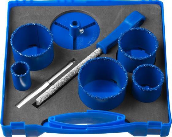 Набор коронок ЗУБР 33350-H8 ЭКСПЕРТ с карбид-вольфрамовой крошкой 33, 53, 67, 73, 83мм, 8пр. faber castell ручка капиллярная ecco pigment 0 7 мм цвет чернил черный