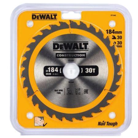 Пильный диск DEWALT DT1942-QZ CONSTRUCTION п/дер. с гвоздями 184/30 30 ATB +10° амлодипин таб 10мг 30