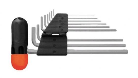 Набор торцевых ключей FIT 64197 шестигранные длинные (1.5 - 10 мм) 9 штcrv с пласт.т-обр.ручкой