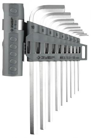 Набор ключей ЗУБР 2745-3-1_z01 эксперт имбусовые длинные cr-mo hex 1.5-10мм 9 пред